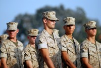 Marines practice for graduation